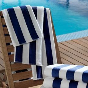 Toalha Para Praia e Piscina Teka Ibiza Azul Escuro 86cm x 160cm