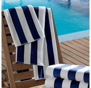 Toalha para Piscina/Praia Listras Ibiza Azul Escuro - 450gm²