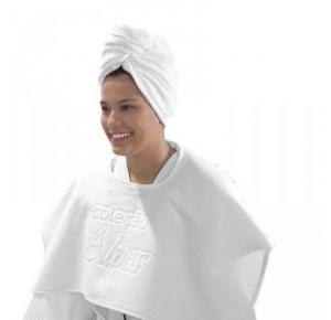 Touca de Banho Felpuda para salão Teka Clássica Branca 420 g/m²